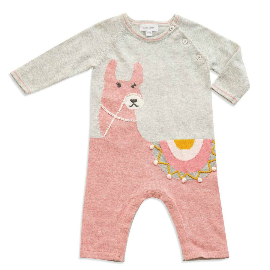 pink llama coverall - Pink and Brown Boutique