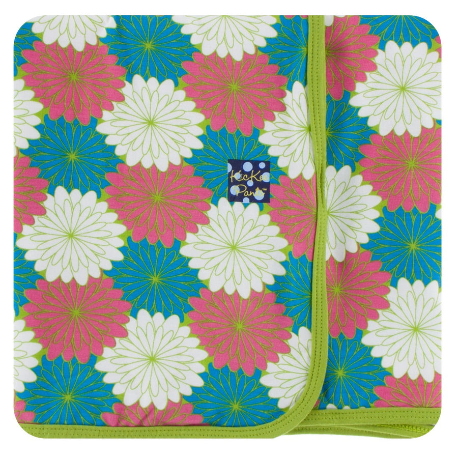 Bamboo Swaddling Blanket in tropical flowers