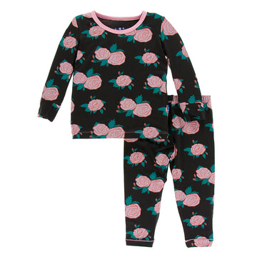 Bamboo Pajama Set in english rose garden - Pink and Brown Boutique