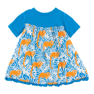 Bamboo Swing Dress in tamarin monkey