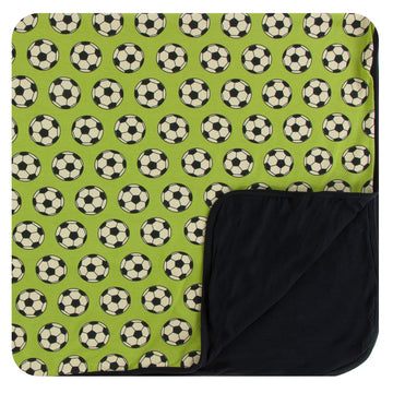 Bamboo Toddler Blanket in meadow soccer