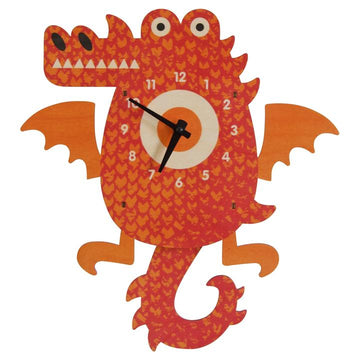 Dragon Pendulum Clock - Pink and Brown Boutique