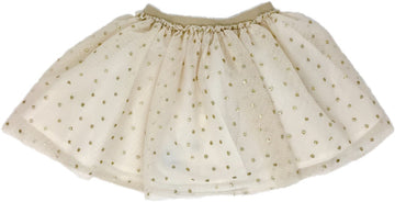 gold dot tulle skirt