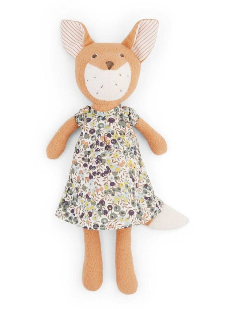 Flora Fox in Tea Party Dress - Pink and Brown Boutique