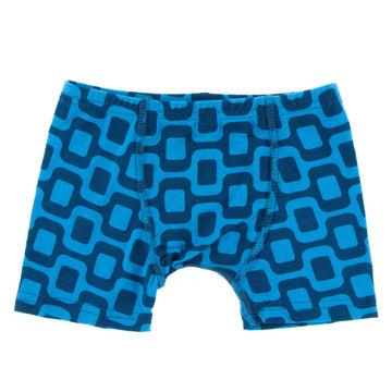 Bamboo Boxer Brief in ipanema - Pink and Brown Boutique