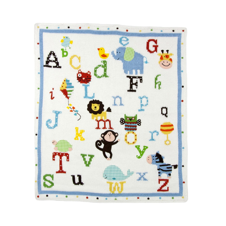 Alphabet Blanket - Pink and Brown Boutique