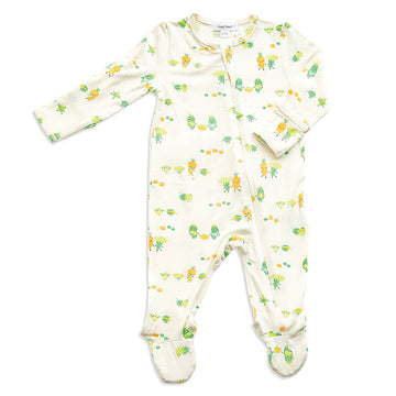 frozen veggies zipper footie