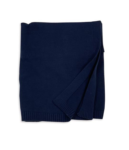 Navy Organic Blanket - Pink and Brown Boutique