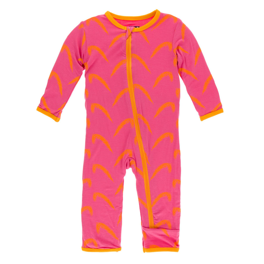 coverall with zipper in carnival feathers