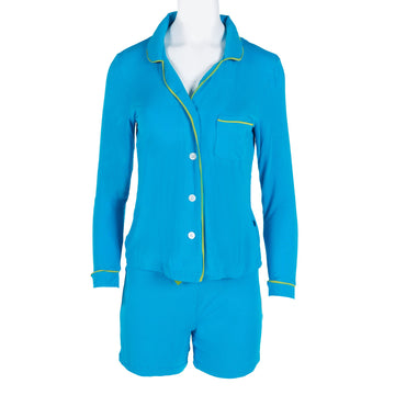 collared pajama set with with shorts in amazon with meadow