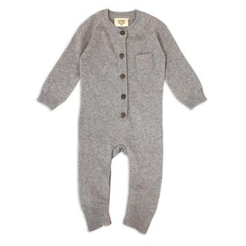 Grey Organic Romper - Pink and Brown Boutique
