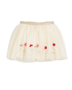 Tulle Flower Stitch Skirt