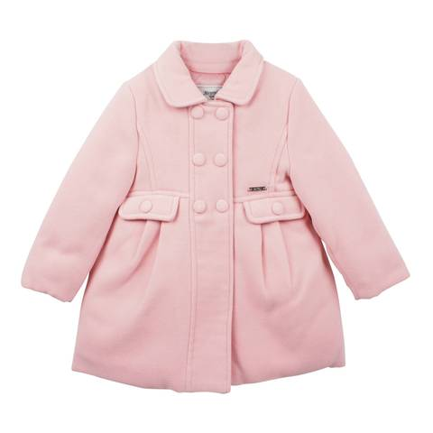 Girls Pink Coat - Pink and Brown Boutique