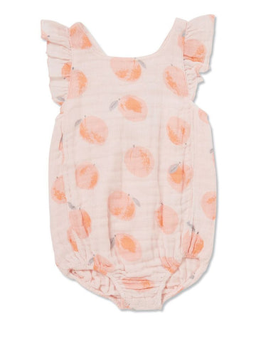 peach bubble sunsuit