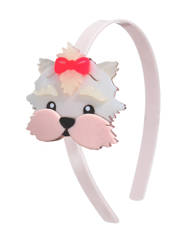 cute pup headband - Pink and Brown Boutique