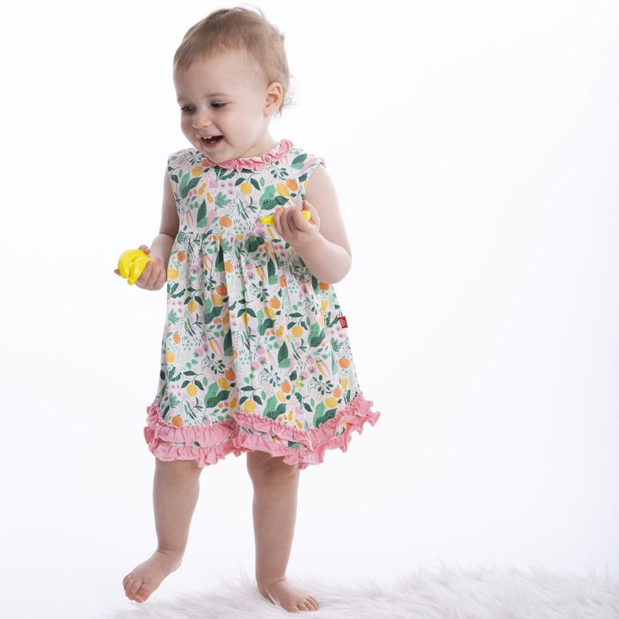 lemon verbena magnetic dress and diaper cover - Pink and Brown Boutique