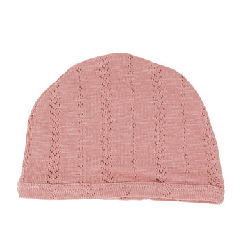 organic pointelle hat mauve - Pink and Brown Boutique