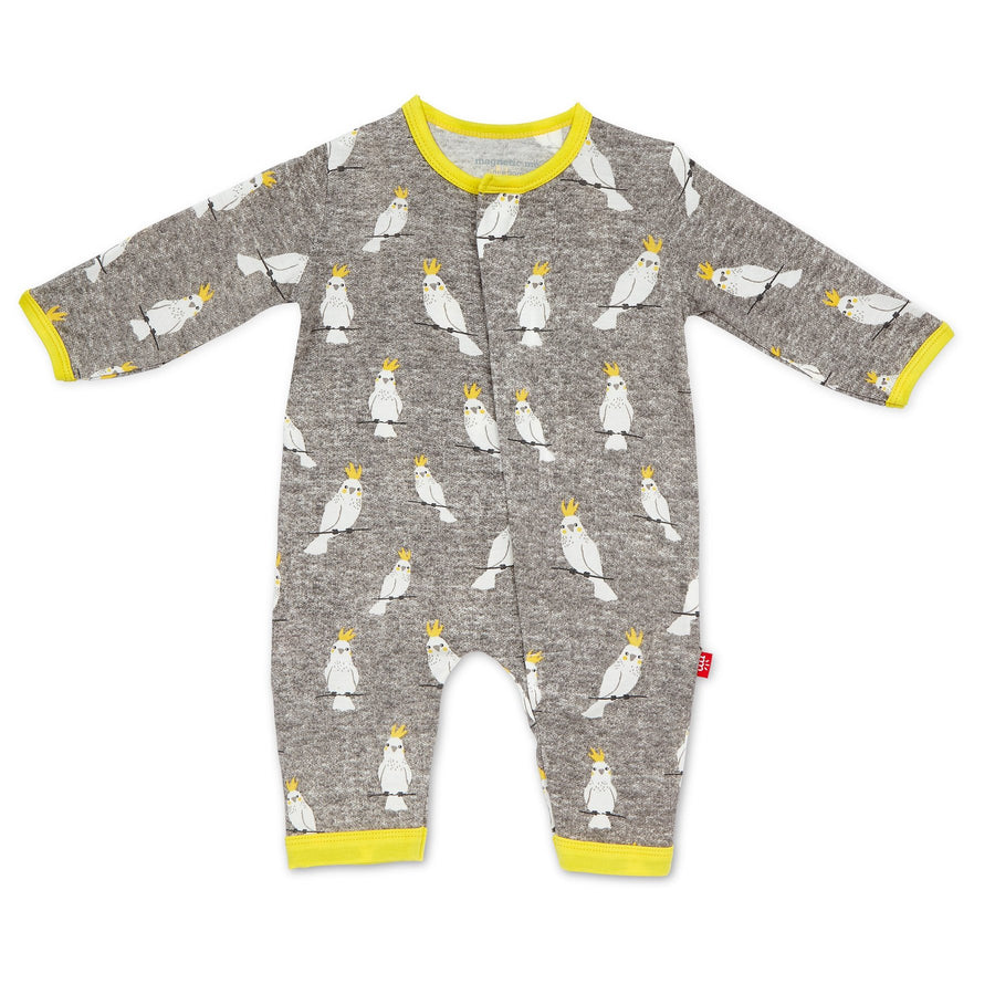 cockatoo magnetic coverall - Pink and Brown Boutique