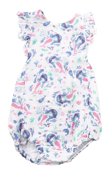 mermaid bubble sunsuit - Pink and Brown Boutique