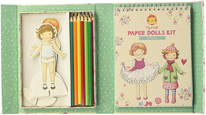 paper dolls kit vintage - Pink and Brown Boutique