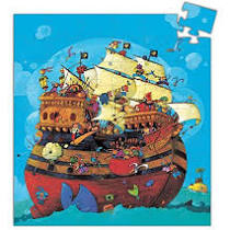 barbarossa's boat silhouette puzzle - Pink and Brown Boutique