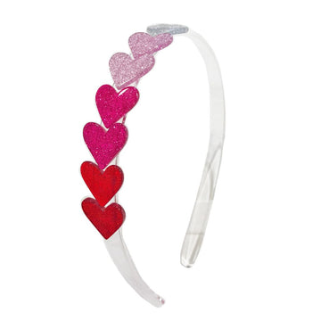 rows of heart headband - Pink and Brown Boutique