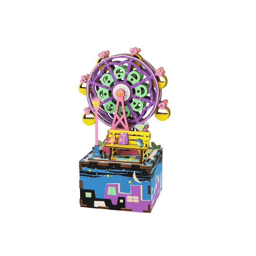 ferris wheel diy 3d wooden music box - Pink and Brown Boutique
