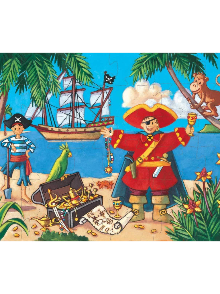 pirate silhouette puzzle - Pink and Brown Boutique