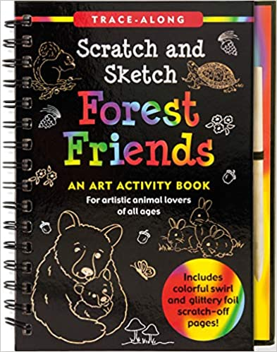 forest friends scratch and sketch - Pink and Brown Boutique