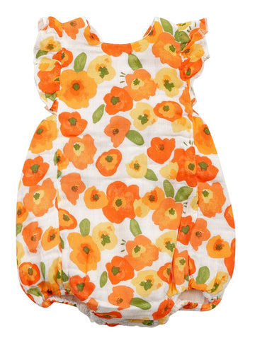 poppies bubble sunsuit - Pink and Brown Boutique
