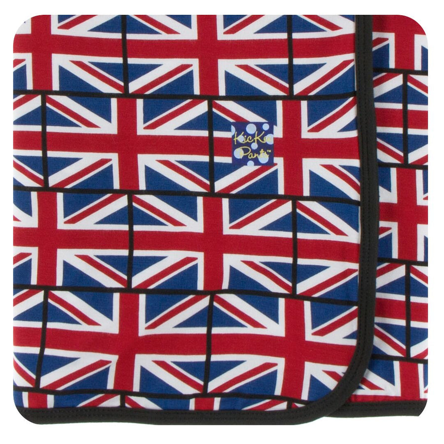 bamboo Swaddling Blanket in union jack - Pink and Brown Boutique