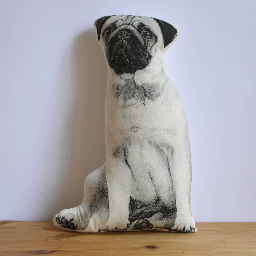 pug pillow - Pink and Brown Boutique