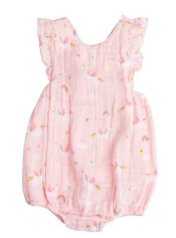 unicorn bubble sunsuit - Pink and Brown Boutique