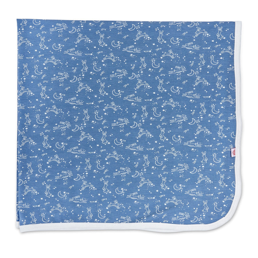 blue sky bunny modal swaddle blanket - Pink and Brown Boutique