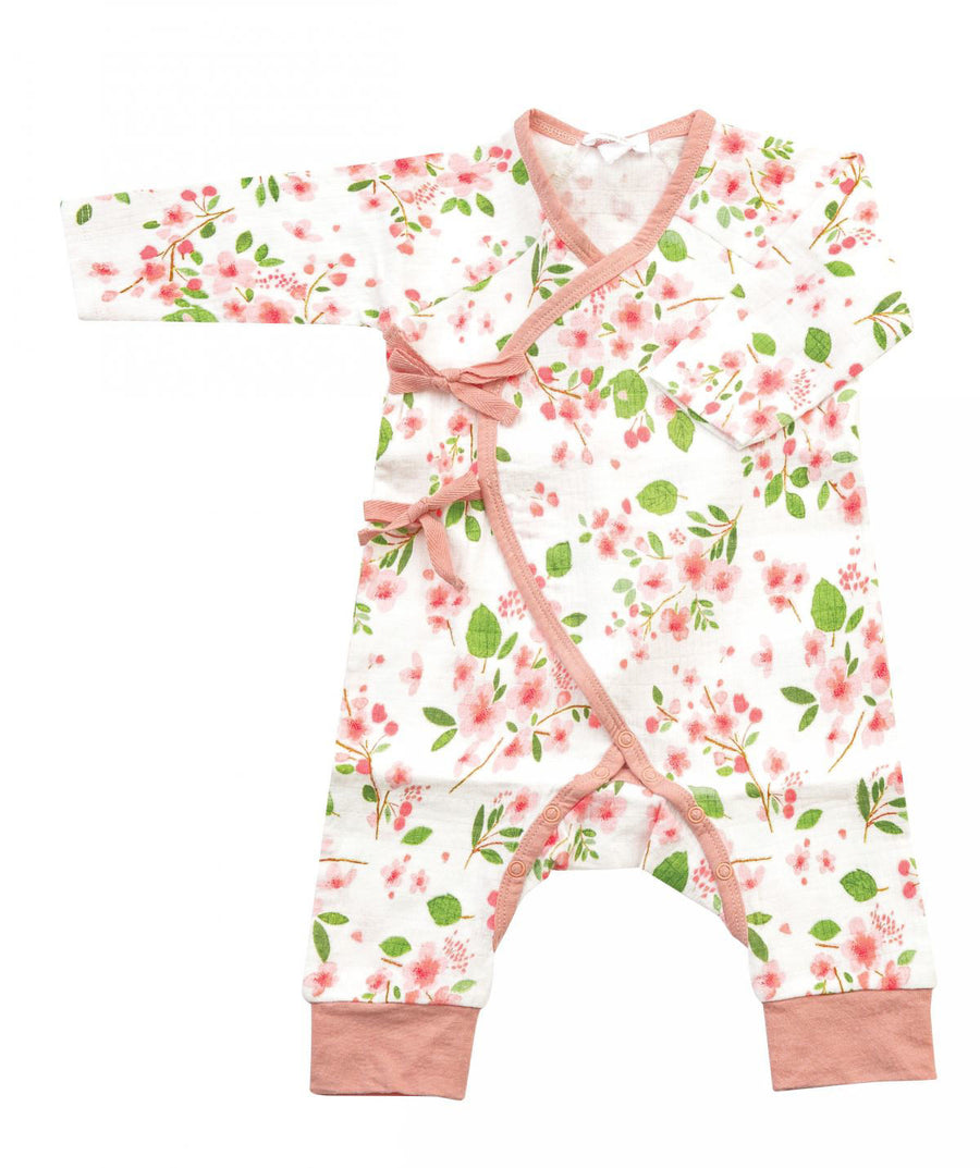 cherry blossom kimono coverall - Pink and Brown Boutique