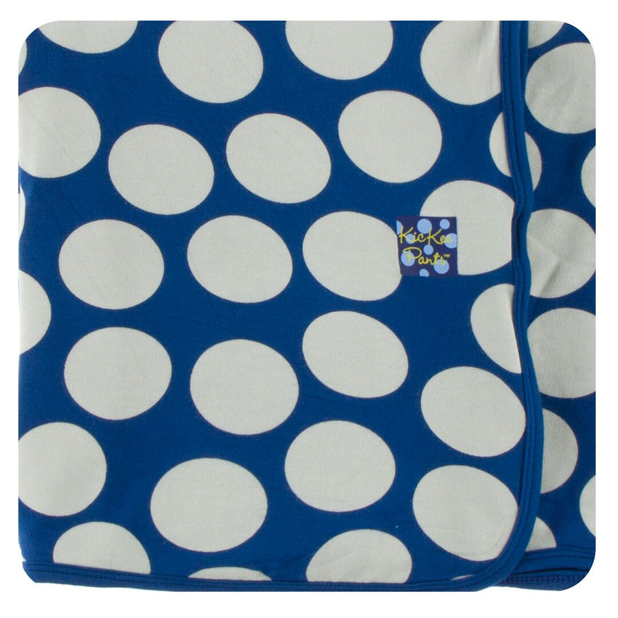 bamboo Swaddling Blanket in navy mod dots - Pink and Brown Boutique