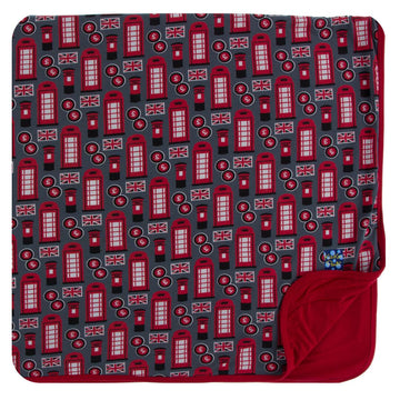 Bamboo Toddler Blanket in life about town - Pink and Brown Boutique