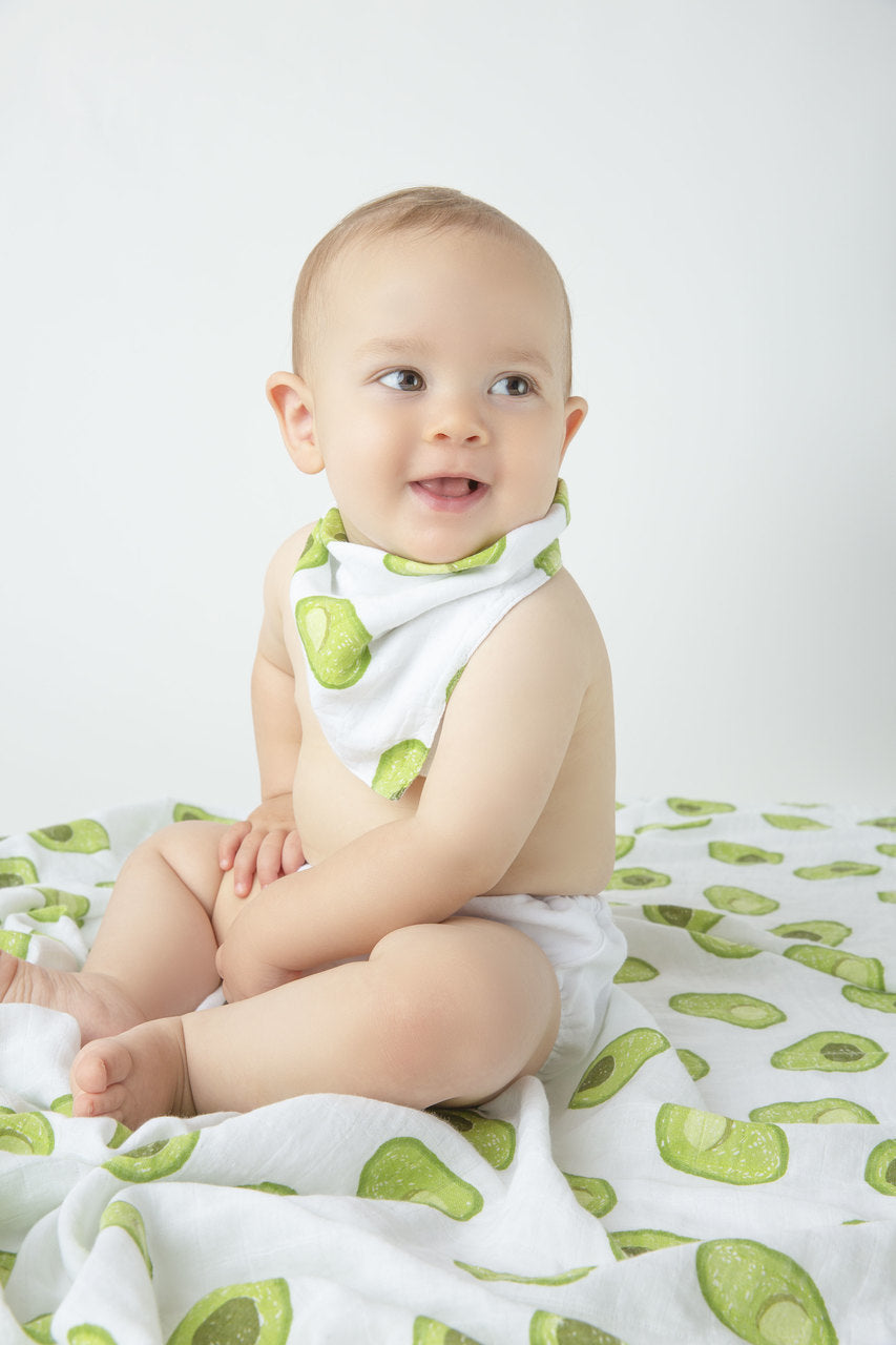 avocado bandana bib - Pink and Brown Boutique