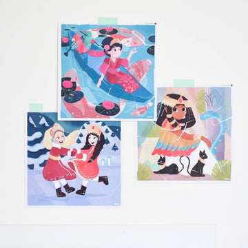princesses sticker puzzle - Pink and Brown Boutique