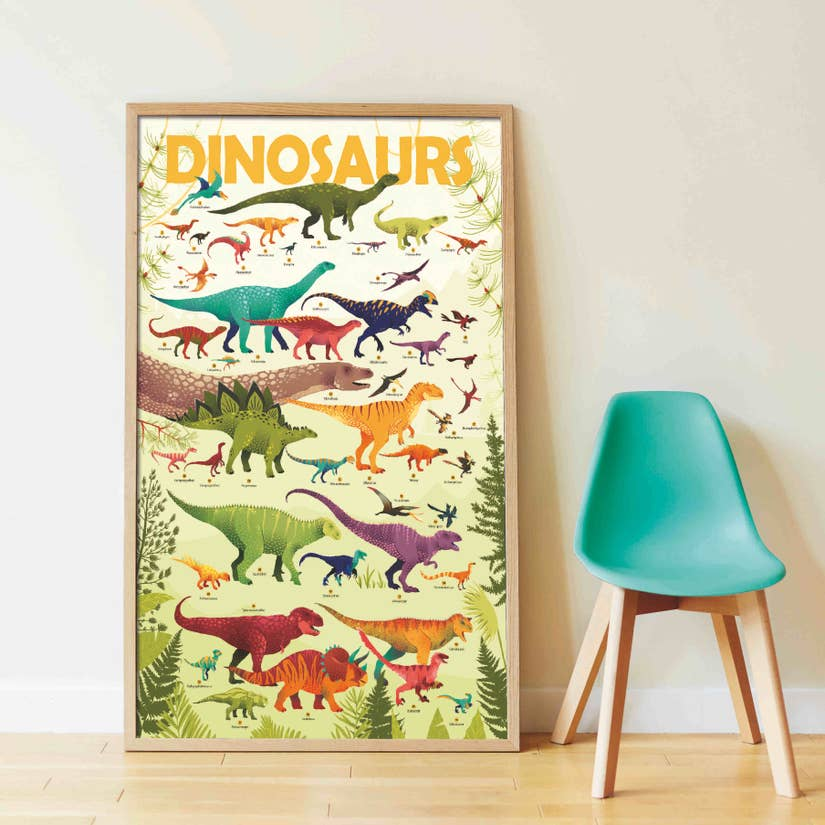 dinosaurs discovery sticker puzzle - Pink and Brown Boutique