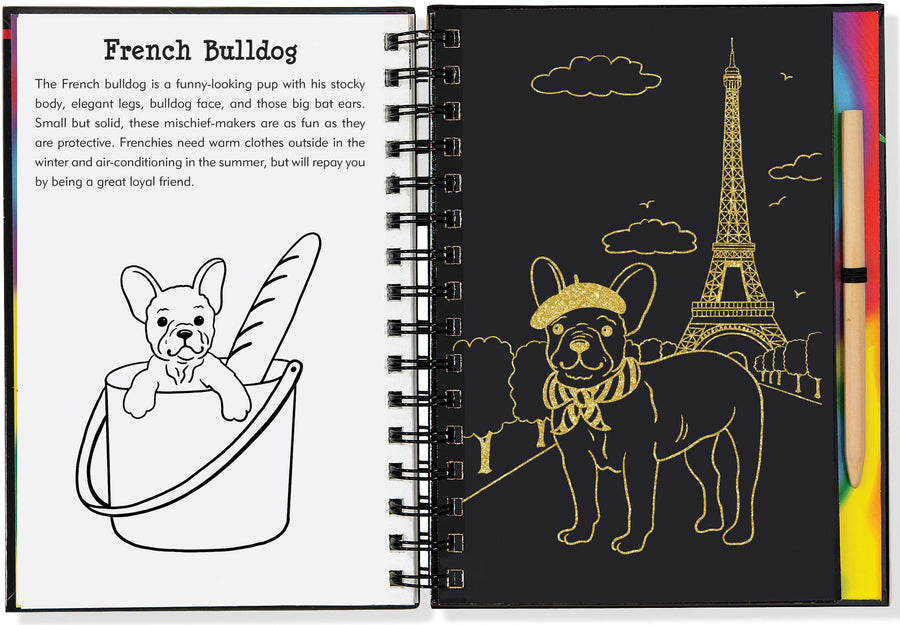 puppies scratch and sketch - Pink and Brown Boutique