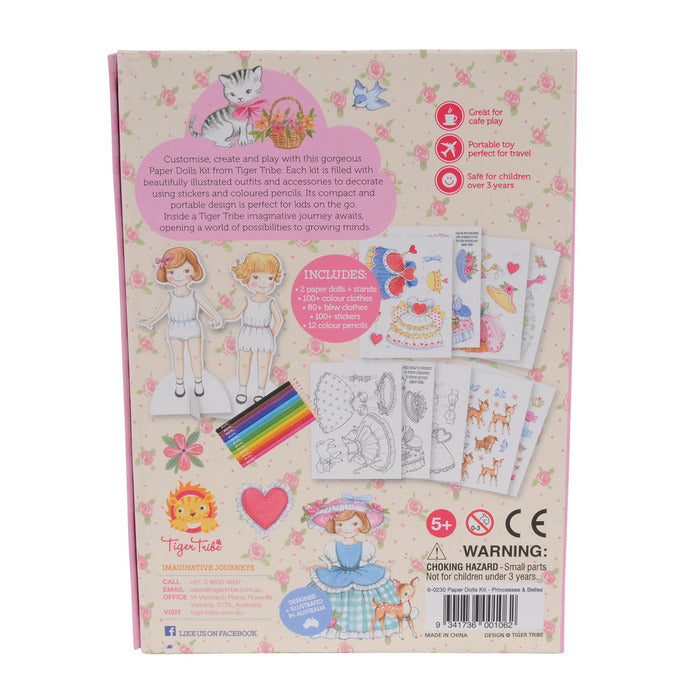 paper dolls kit princesses - Pink and Brown Boutique