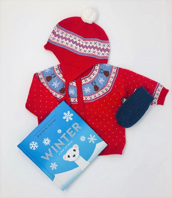 Holiday cardigan Baby Gift Set - Pink and Brown Boutique
