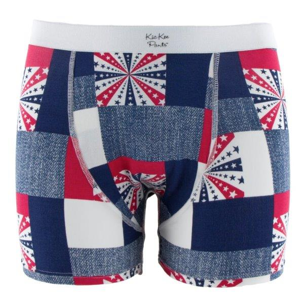 Bamboo Boxer Brief in Patchwork - Pink and Brown Boutique