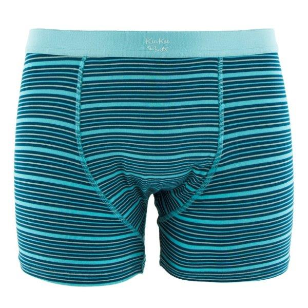 Bamboo Men Boxer Brief in Shining Sea Stripe