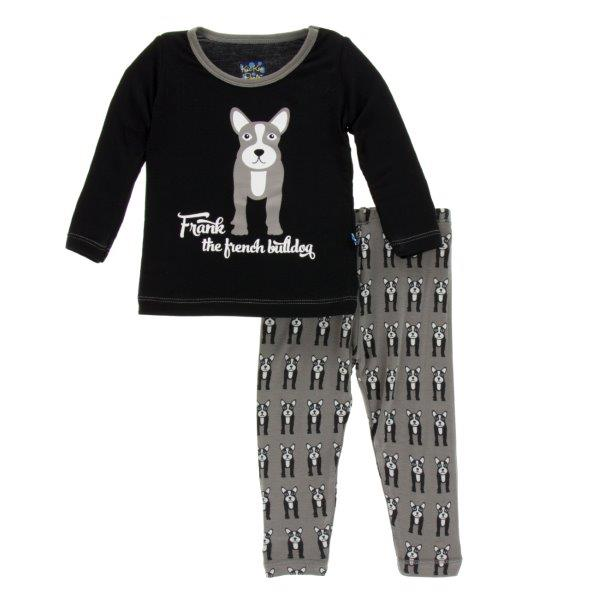 Bamboo Pajama Set in French Bulldog - Pink and Brown Boutique