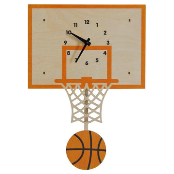 Basketball Pendulum Clock - Pink and Brown Boutique