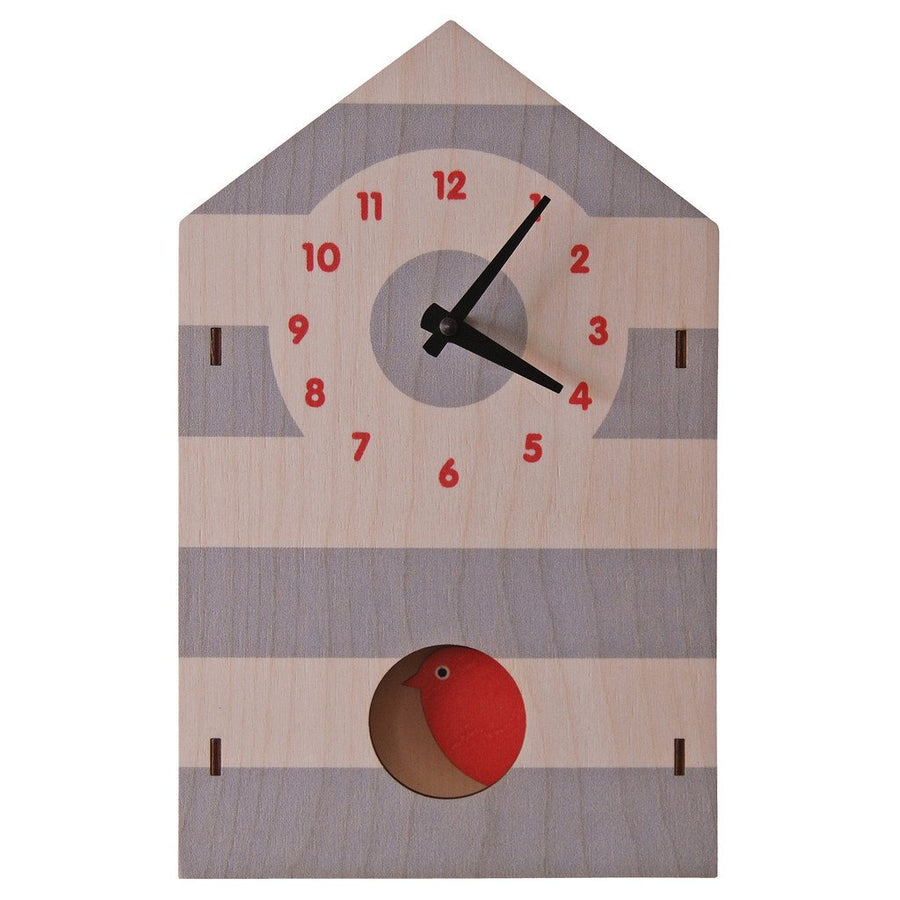Bird House Pendulum Clock - Pink and Brown Boutique