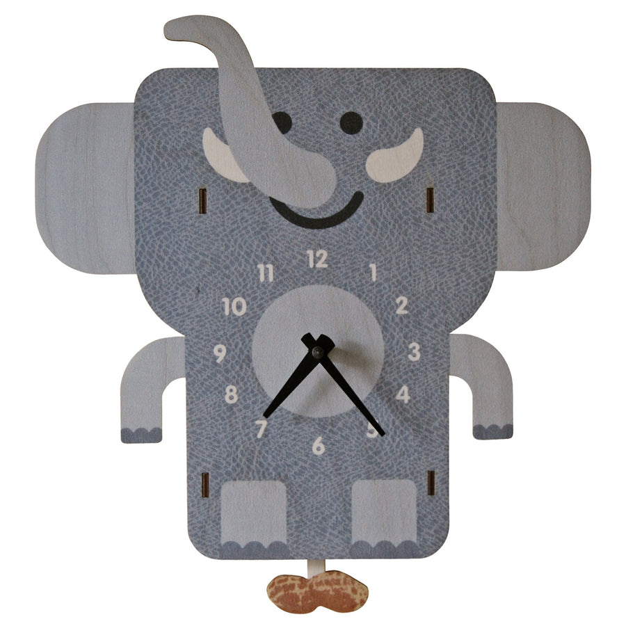 Elephant Pendulum Clock - Pink and Brown Boutique