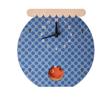 Fish Bowl Pendulum Clock - Pink and Brown Boutique
